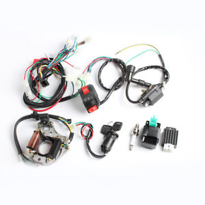 image is loading 50cc-110cc-cdi-wire-harness-stator-assembly-wiring-