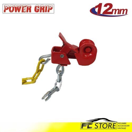 12A070 Catene da Neve Power Grip 12mm Omologate Gruppo 70 pneumatici 185//65r15