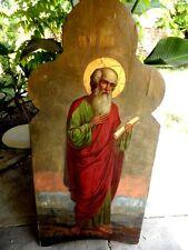19C Large Antique Russia Russian Church Saint Apostle Jude Icon 60 x 28 inch