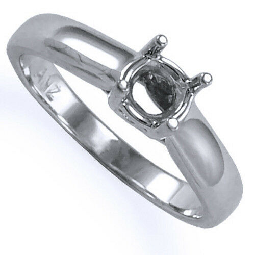 Solid 950 Platinum Trellis Engagement Ring Setting Sizes 3.5 to 9.5  R1197