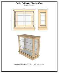 WOODWORKING PLANS - Curio Cabinet / Display Case - WOODWORKING PLANS ...