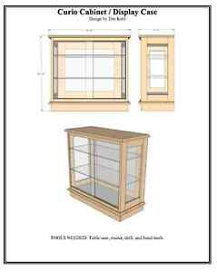 Woodworking Plans Curio Cabinet Display Case Woodworking Plans | eBay