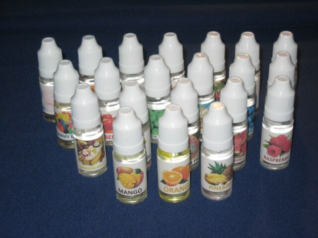 1x Liquid Flavor Juice 10ml Bottle Oil 21 Flavors to choose from Fruit E USA
