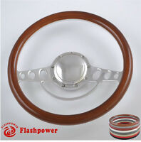 15.5'' Billet Steering Wheels Woodgrain Chrysler Yorker Imperial Cordoba