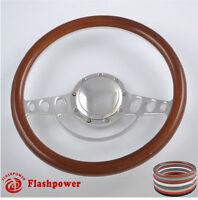 15.5'' Billet Steering Wheels Woodgrain Chrysler Yorker Imperial Cordoba