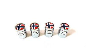 cache-soupape-Capuchon-NORVEGE-DRAPEAU-Noreg-logo-en-Aluminium-Jante-VANNE-TUYAU