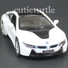 Kinsmart Bmw i8 2 Doors Coupe 1:36 Diecast Toy Car White