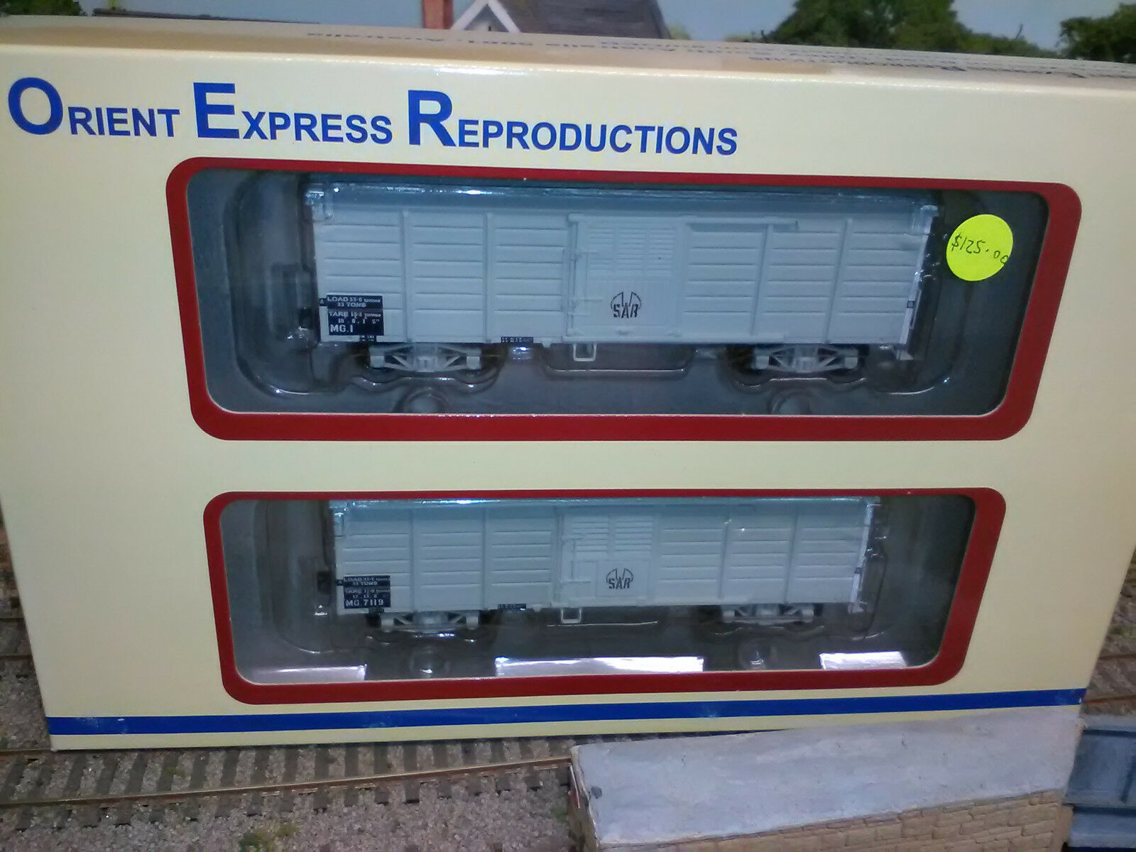 Orient Express Reproductions OR315 SAR MG Van light grau with Trans codes BNIB