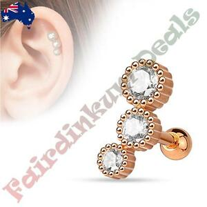 316L-Surgical-Steel-Rose-Gold-Ion-Plated-Tragus-Cartilage-Stud-with-3-Round-CZ
