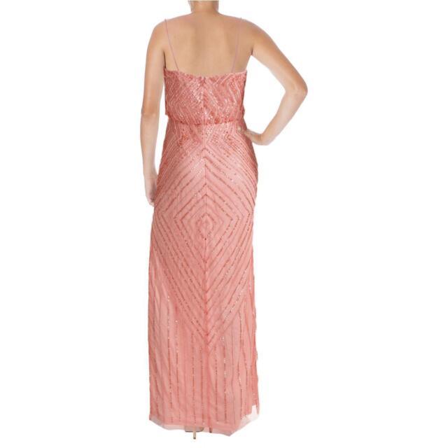 Aidan Mattox 6056 Womens Pink Mesh Prom Blouson Semi-formal Dress ...