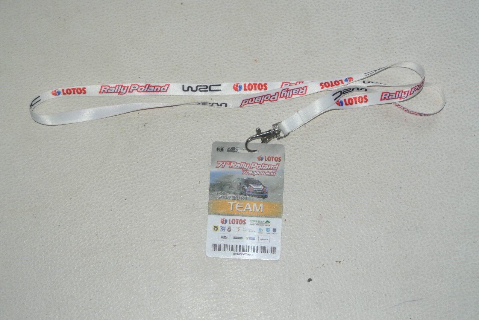 RALLY  poland pologne   2012 2012 2012 Tour De Cou Badge pass porte clé WRC FIA 997e6c
