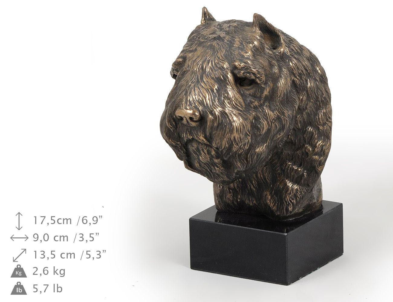 Boyero de Flandes, estatua de mármol   busto de perro ArtDog ES