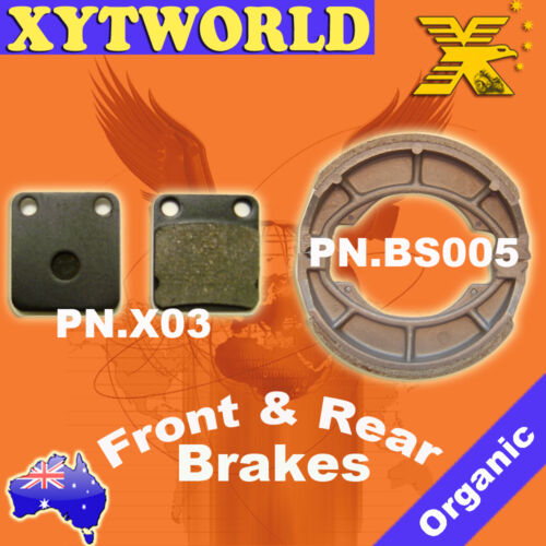 FRONT REAR Brake Pads Shoes for Suzuki DF 200 SH42A 1998-2000