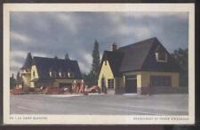 POSTCARD LA DAME BLANCHE CANADA RESTAURANT & GAS STATION 1930'S