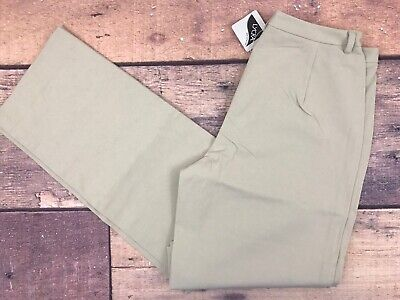 NEW LL BEAN Flat Front Brown Non Iron Dress Pants Women/'s Size 4 Tall LLW140
