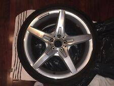 CRACKED 2013 Mercedes SL550 19in Rear Wheel and Bridgestone Potenza Tire