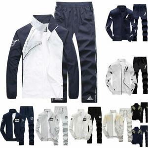 995fe86714bd 2PC Set Men s Tracksuit Sport Jacket Pants Casual Jogging Athletic ...