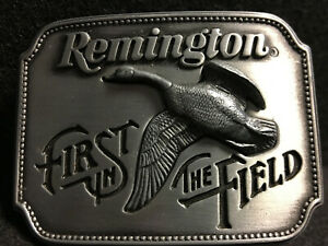 Canada-Goose-Remington-First-in-the-Field-Belt-Buckle-1980