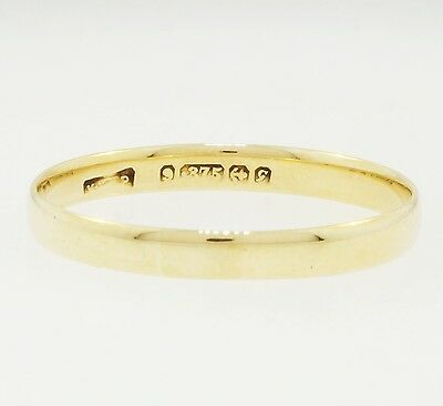 9Carat Yellow Gold Soft Court Wedding Band (Size R 1/2) 3mm Width
