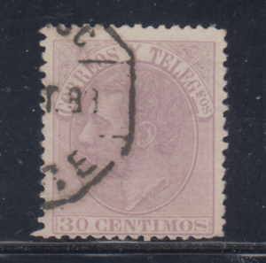 ESPANA-1882-USADO-SPAIN-EDIFIL-211-30-cts-ALFONSO-XII-LOTE-2