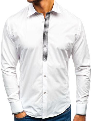 Herren Herrenhemd Freizeithemd Shirt Casual Hemd Classic BOLF 2B2 Unifarben