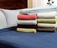 Throw Blanket Light Warm Woven Cotton Twin Full Queen King Summer Winter Bedding