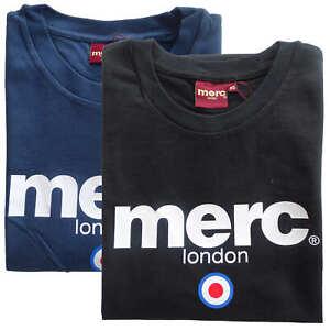 T-shirt-Maglia-Maniche-Corte-MERC-London-100-Cotone-Uomo-Men-Blu-Blue-Nero-Blac