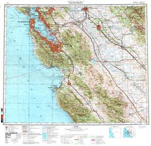 Russian Soviet Military Topographic Maps - SAN FRANCISCO (USA), 1 ...