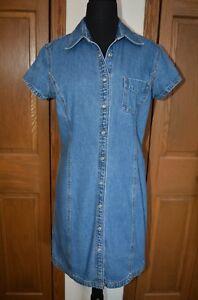 d6008f5bc47 VTG 1980 s Women s TOMMY HILFIGER Denim Snap Button Dress Curvy Size ...