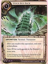 Android Netrunner LCG - #019 Stock Buy-Back - 23 Seconds