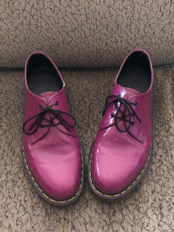Dr. Doc Martens Air Wair Size 8 Oxford  AW004 Purple Shoes Purple AW004 e20f1f