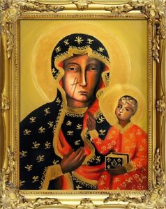 Religion-Mary-Handmade-Oil-Painting-Picture-Oil-Frame-Pictures-G00263