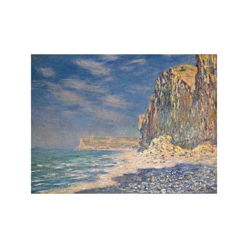 Quadro Quadro Quadro su Pannello in Legno MDF Claude Monet Falaise, near Fecamp bb4657