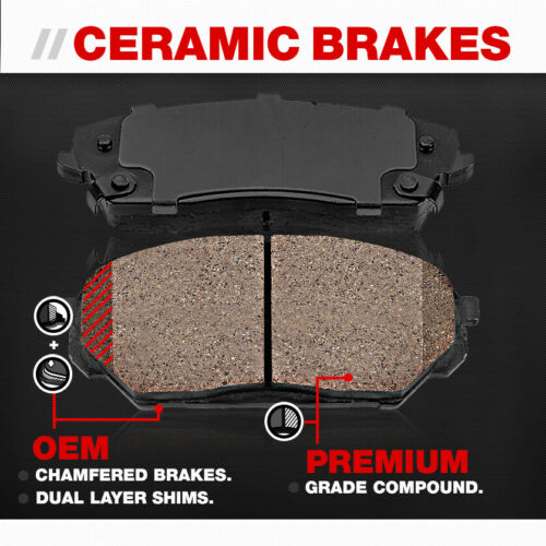 Front+Rear Solid Disc Brake Rotors /& Ceramic Pads For Mercedes Benz ML430 ML500
