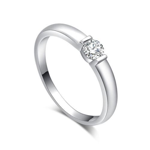 Women Fashion Silver Plated Ring Princess Wedding Band Charm Jewelry Size 7 9
