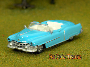 Die-Cast-Vintage-Blue-1953-Cadillac-HO-Scale-1-87-by-Model-Power-53-Caddy
