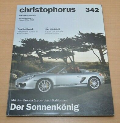 Hilfreich Porsche Christophorus Nr. 342 Magazin 02/10turbo Cayenne Blut NäHren Und Geist Einstellen