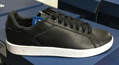 K Swiss Clean Court CMF 05353002M Memory Foam Black White Mens Shoes Sizes