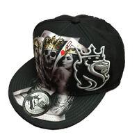 Og Abel Ogabel Men's 2 Of A Kind Snapback Hat Black Skull Baseball Cap Skate Str on Sale