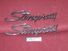 74 75 76 CHEVROLET CORVETTE STINGRAY FRONT FENDER EMBLEMS NEW 1974 1975 1976