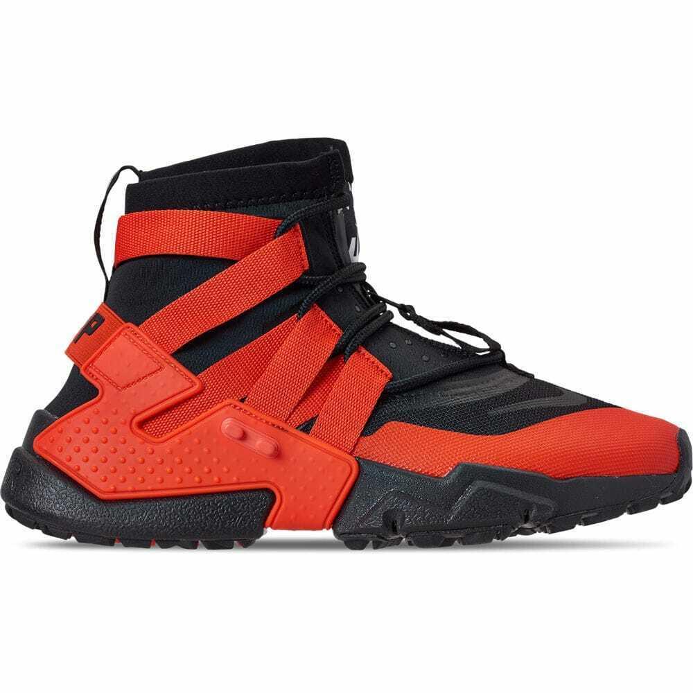 cheap for discount 28294 c5cce Men s Nike Huarache Gripp Gripp Gripp Casual shoes Black Team orange White  AO1730 001 1e514d