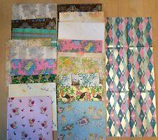 Vtg Wrap Paper 28 Sheets Wedding Bridal Shower Flowers Baby Birds