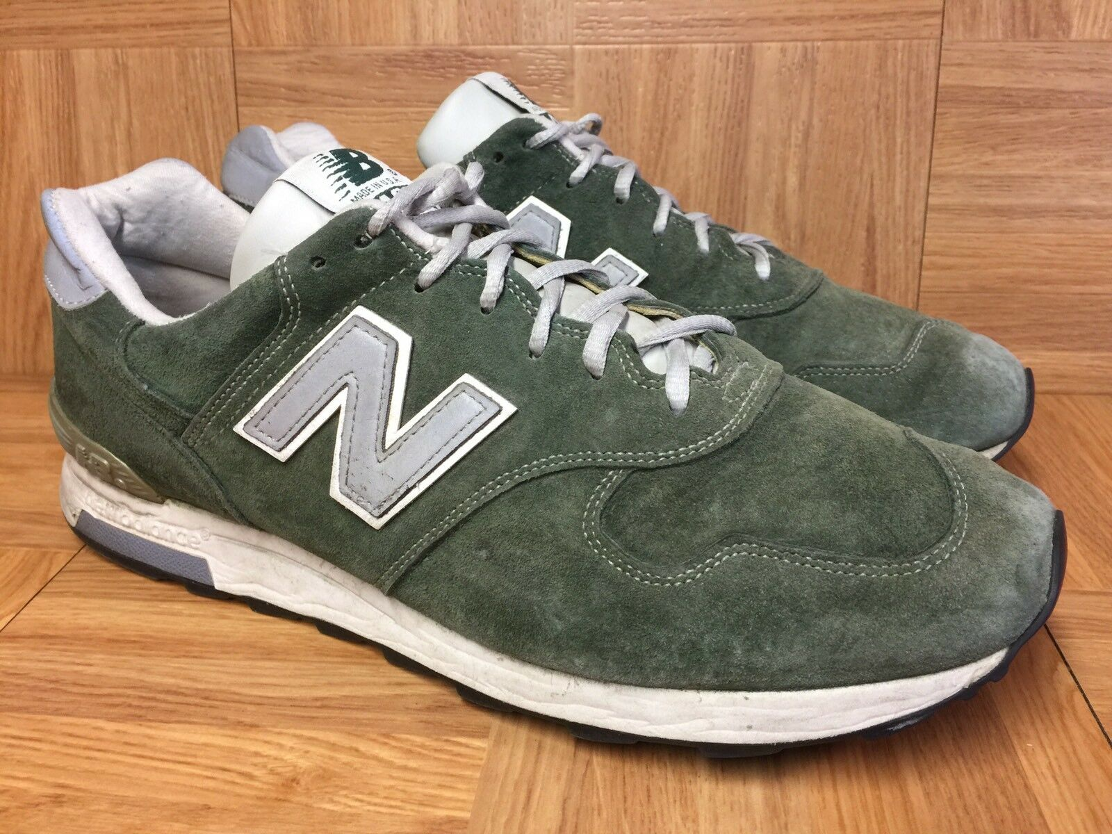 RARE RARE RARE New Balance 1400 Made In USA Sneakers M1400MG Forest Green Sz 12 Mens 73537f