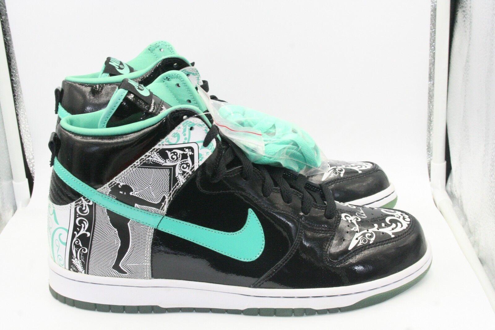 Nike Dunk High Dontrelle SZ 11 DS Florida Marlins Black Azure Teal Willis