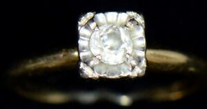 14K-YELLOW-GOLD-25-CARAT-vintage-S-amp-D-diamond-ring