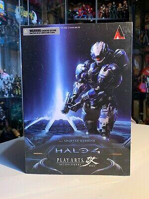 Halo 4 Play Arts Kai série 1 Guerrier spartiate figurine bleu-Neuf Authentique