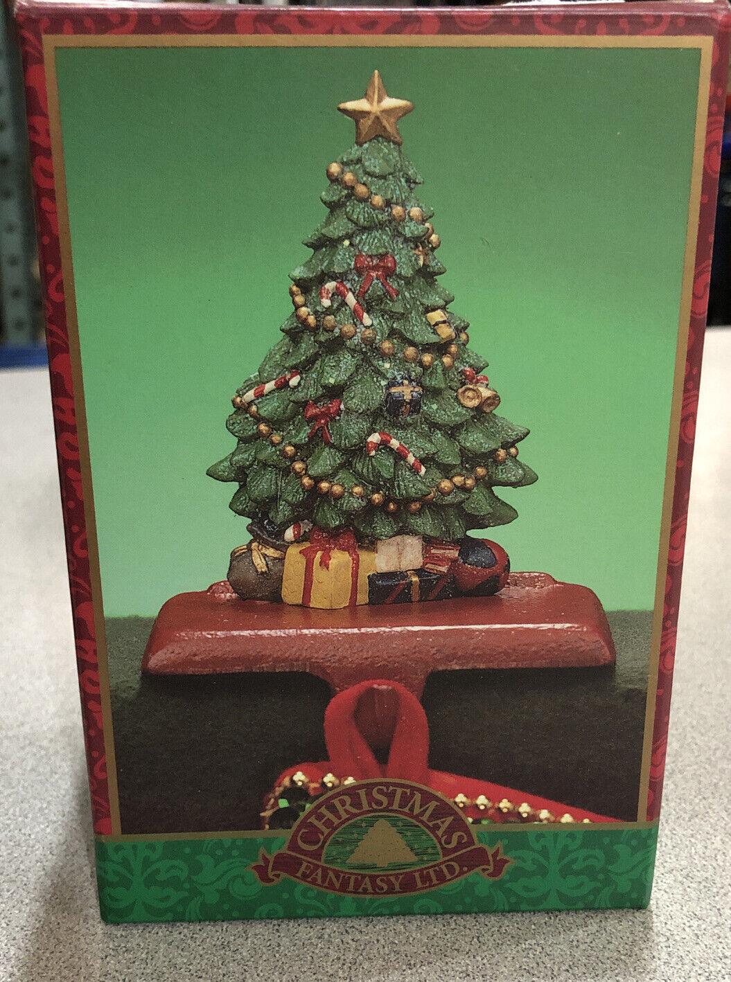 Stocking Holder Hanger Christmas Tree Cast Iron Base Fantasy Ltd In Box For Sale Online