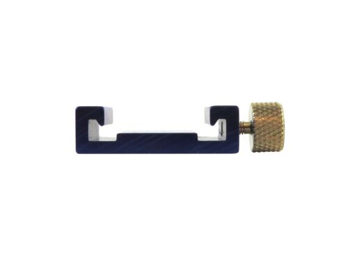 Ruler Fence Stop for Machinist Rule Anodized Aluminum Brass Knob Taytools 110210