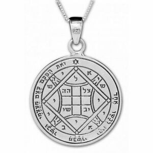 Silver 925 King Solomon Wisdom LOVE Amulet Talisman Kabbalah Gift Necklace