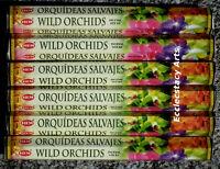 Hem Wild Orchids Incense 20 Stick Box X 6, 120 Sticks - Attract Wealth